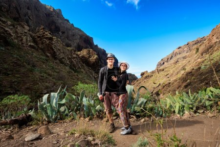 Young couple in Masca Valley