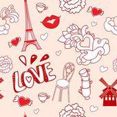 pastel Paris pattern