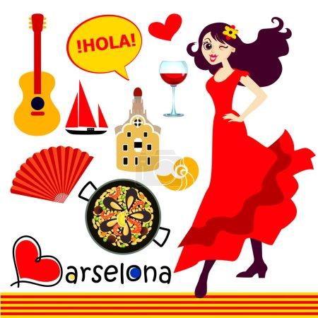 Spanish icons set