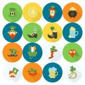 Saint Patricks Day Icon Set Vector Clean Work Minimum Points