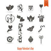 šťastný Valentýn ikony