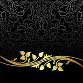 Elegant charcoal Background with golden floral Elements