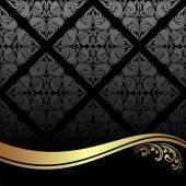 Luxusní černé pozadí zdobené zlaté hranice