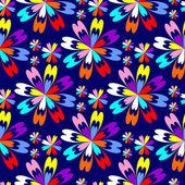 Světlé květinový vzor bezešvé s barevnými květy modré