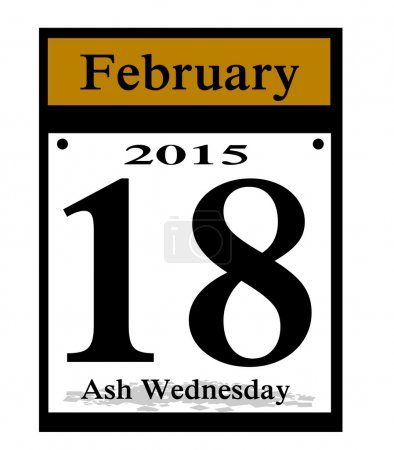 2015 ash wednesday icon