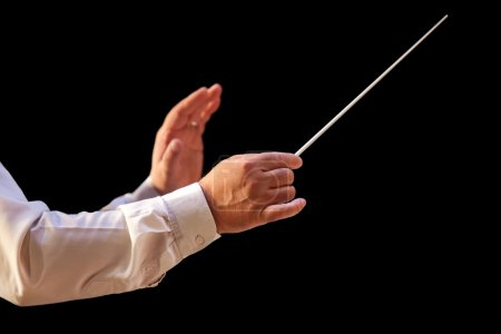 The hands of the conductor