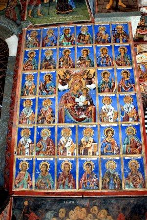 Frescoes of the Orthodox Church. Rila Monastery Bulgaria