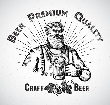 craftsman with beer label