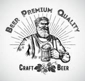 craftsman with beer label