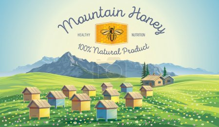 Natural honey product poster