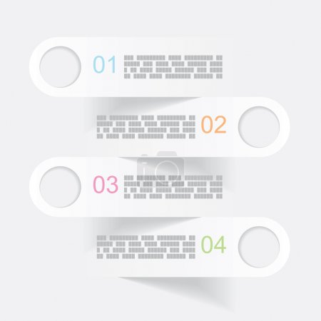 vector gray infographics banners