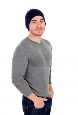 Muscled man with wool hat