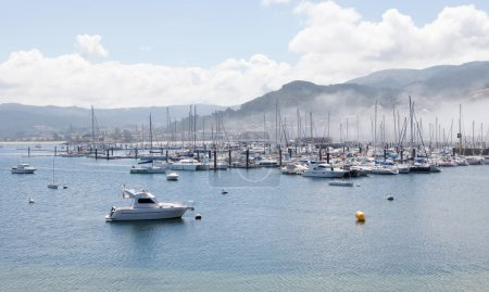 Bayona Sport port with sailboats