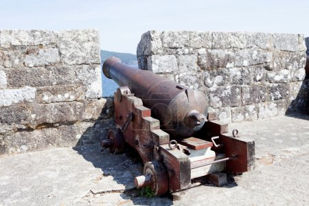 old cannon protecting the fortress