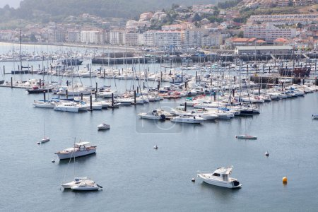 Port of Bayona with lot of yachts