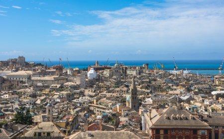 Genoa scenic panorama, Ligurian coast