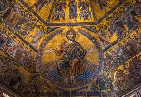 Magnificent mosaic ceiling
