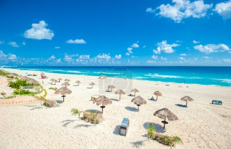 Cancun beach panorama