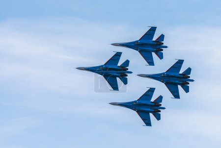 Silhouettes of Russian fighter aircrafts