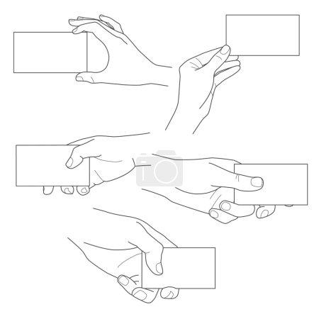 Illustration pour Ensemble vectoriel d'illustrations de cartes de visite vierges - image libre de droit
