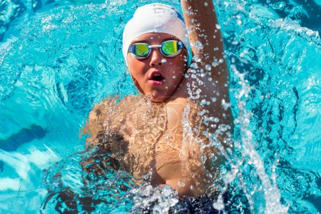 Swimmer competing in gala