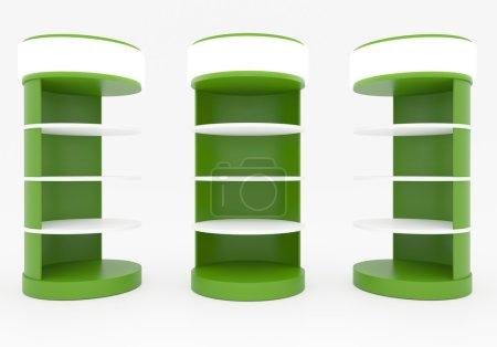 Green Circular Shelves