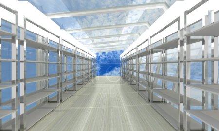 storage room with sky