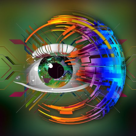 Human eye background