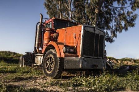 Abandoned retro truck