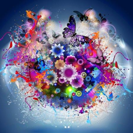 Photo pour Abstrait beau fond floral - image libre de droit