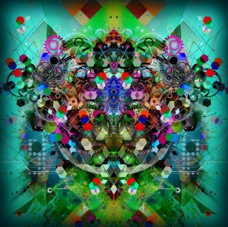 Photo pour Fond lumineux avec illustration abstraite - image libre de droit