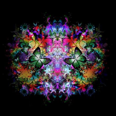 Photo pour Concept d'harmonie. illustration florale abstraite - image libre de droit