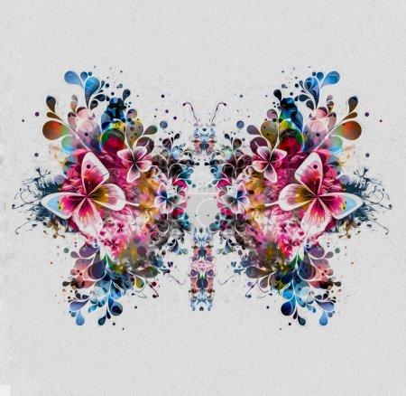 Photo pour Fond abstrait de printemps avec des papillons - image libre de droit