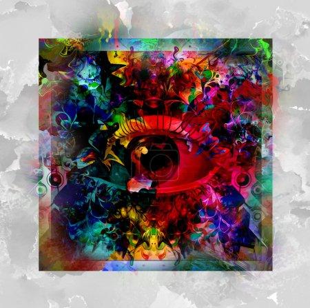 Photo for Colorful Magic eye background with paint splashes - Royalty Free Image