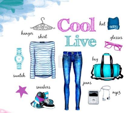 Girl fashion collection