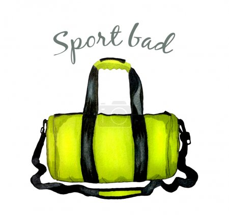 Sport bright green bag for fitness.