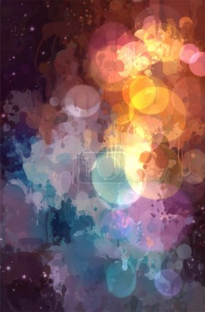 Illustration for Drop abstract background, vector illustration - Royalty Free Image