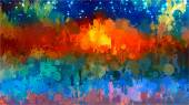 Abstract landscape brush strokes background