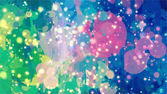 Bright colorful stardust space in pink blue green colors