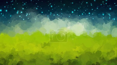 Illustration for Starry sky brush strokes background. Vector version - Royalty Free Image
