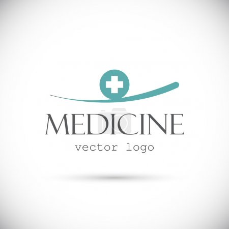 Illustration for Medicine vector logo on white - Royalty Free Image