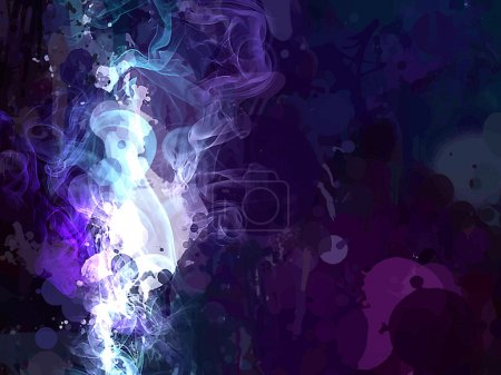 blue smoke brush strokes background
