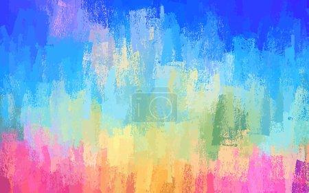 Illustration pour Brosse à craie bleue touche fond. Version vectorielle - image libre de droit