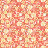 Pattern with cute flowers