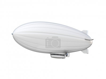 zeppelin on white background