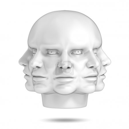 Photo for Psychology, abstract human head 3d concept - Royalty Free Image