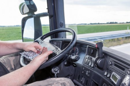 Using the pills while driving the truck