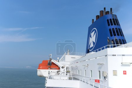 The upper deck of the ferry of DFDS Seaways