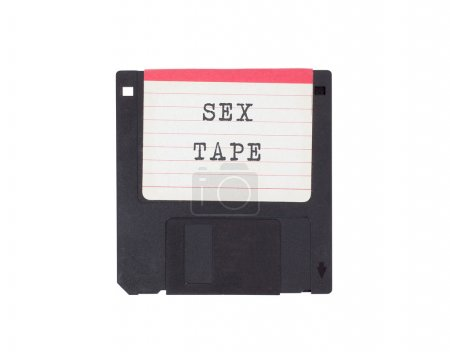Floppy disk, data storage support, isolated on whi...