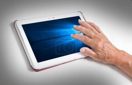 HEERENVEEN, NETHERLANDS, June 6, 2015: Tablet computer with Wind